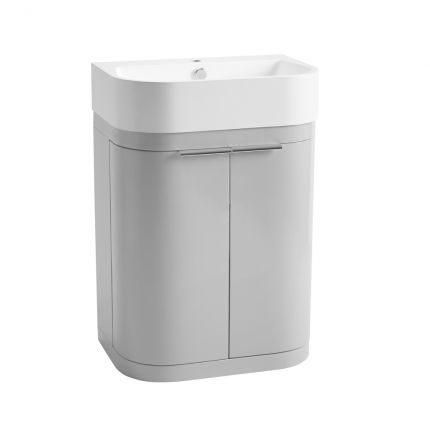 Soul 600mm Freestanding Wash Unit - Light Grey