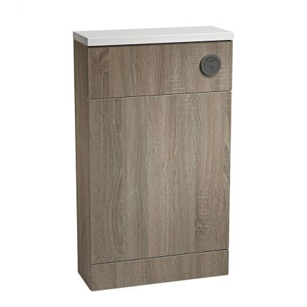 500mm Slimline Back To Wall WC Unit - Havana Oak