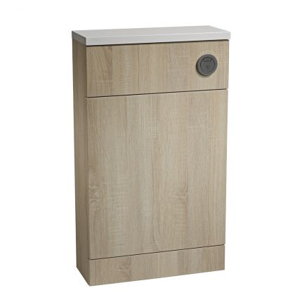 500mm Slimline Back To Wall WC Unit - Oregon Oak