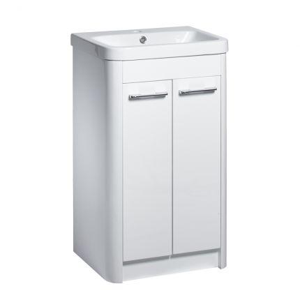 Contour 500mm Freestanding Wash Unit - Gloss White