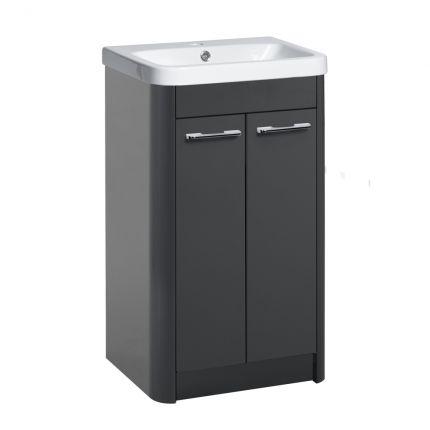 Contour 500mm Freestanding Wash Unit - Anthracite