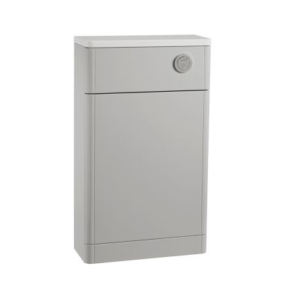 500 Slimline Back to Wall WC Unit - Light Grey