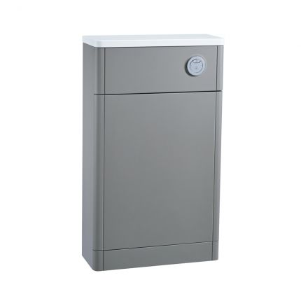 500mm Slimline Back To Wall WC Unit - Stone Grey
