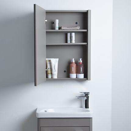 Contour Single Door Cabinet - White