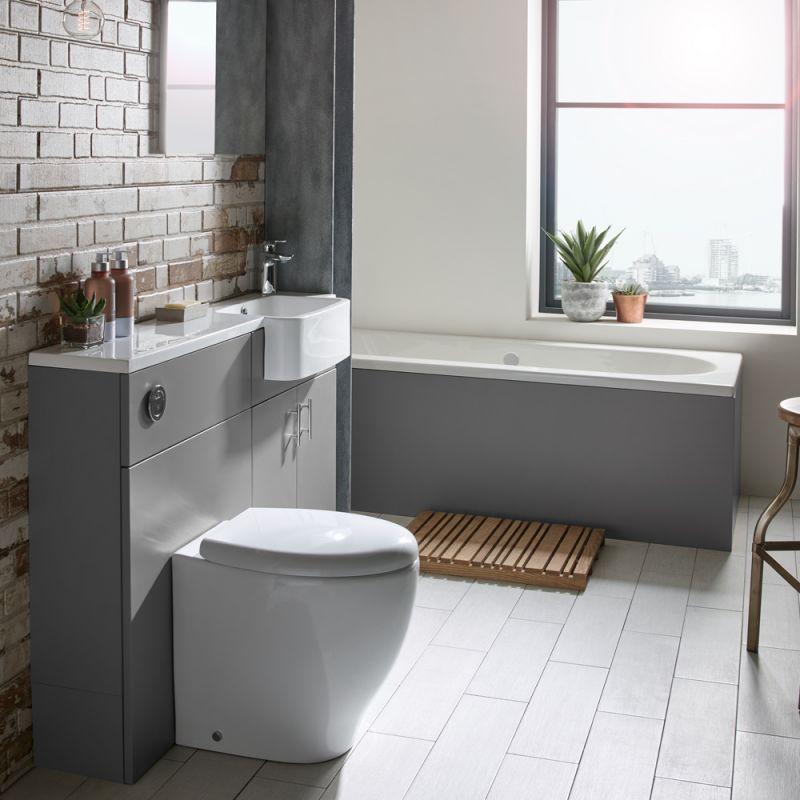 1200mm Slim Isocast Basin Left R2 Bathrooms