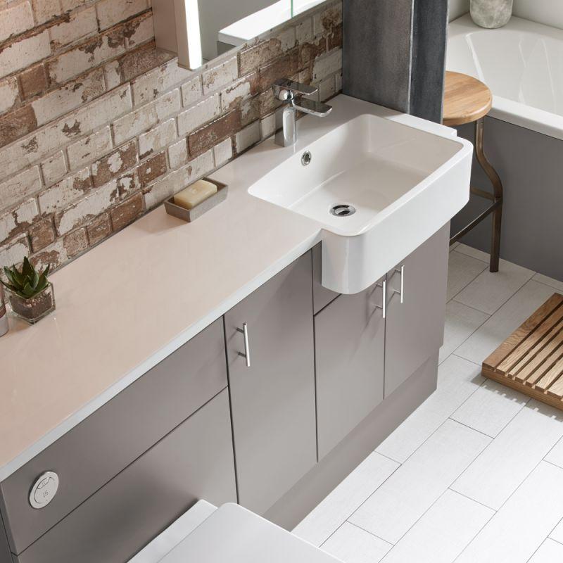 1500mm isocast basin left r2 bathrooms. Black Bedroom Furniture Sets. Home Design Ideas