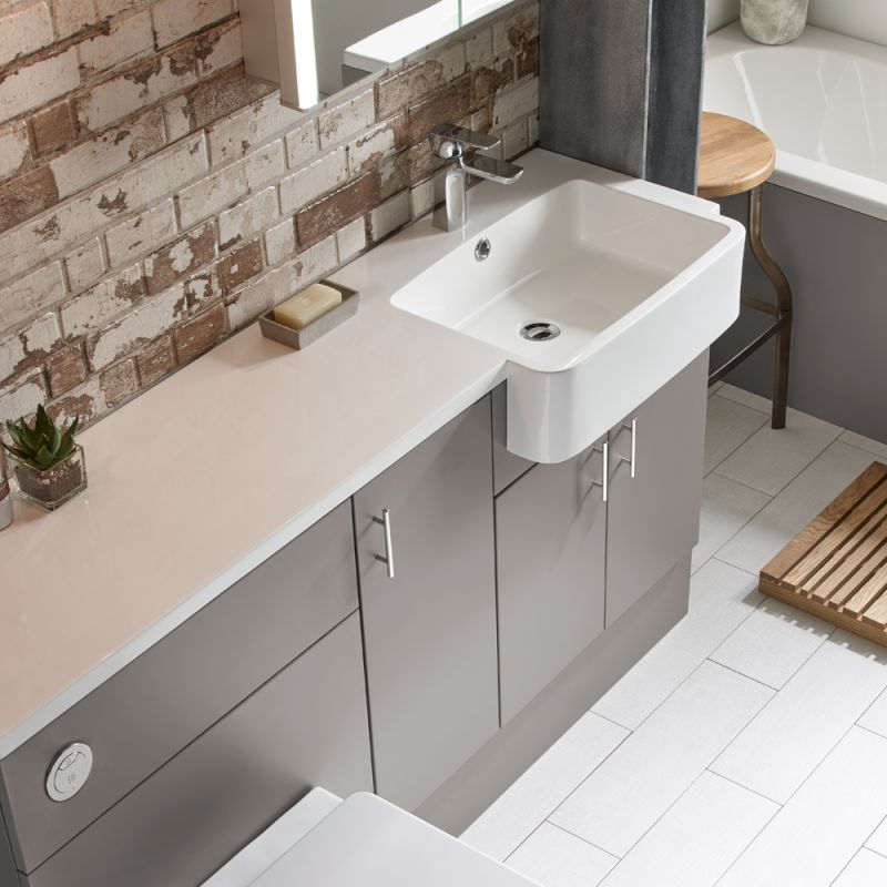 1500mm Isocast Basin Right R2 Bathrooms