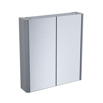 Contour Double Door Cabinet - Stone Grey