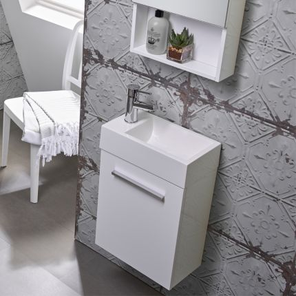 Drive 400 Wall Mounted Unit & Basin - White