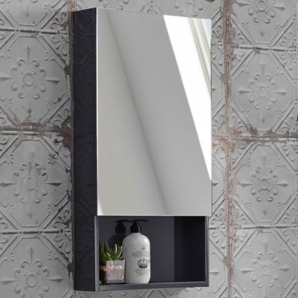 400mm Single Mirror Door Cabinet - Anthracite