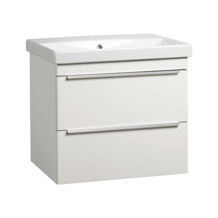 Type 600mm Wall Mounted Wash Unit & Basin - Gloss White