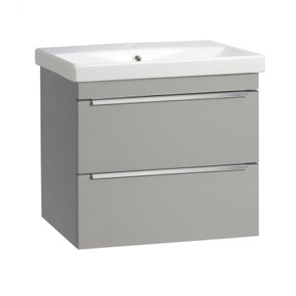Type 600mm Wall Mounted Wash Unit & Basin - Light Grey