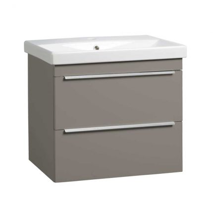 Type 600mm Wall Mounted Wash Unit & Basin - Stone Grey