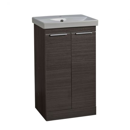 Type 500mm Freestanding Wash Unit & Basin - Basalt Wood