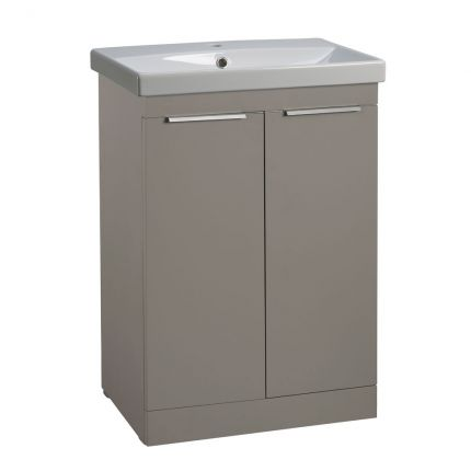 Type 600mm Freestanding Wash Unit & Basin - Stone Grey