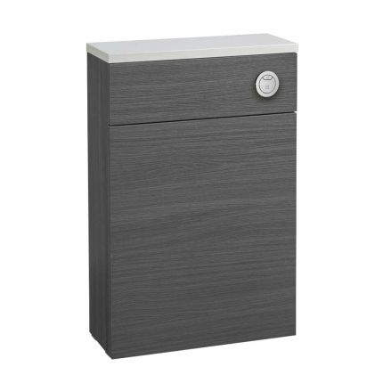 560mm Slimline Back to Wall WC Unit - Basalt Wood