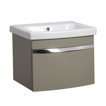 Plan 500mm Wall Mounted Wash Unit & Basin - Stone Grey