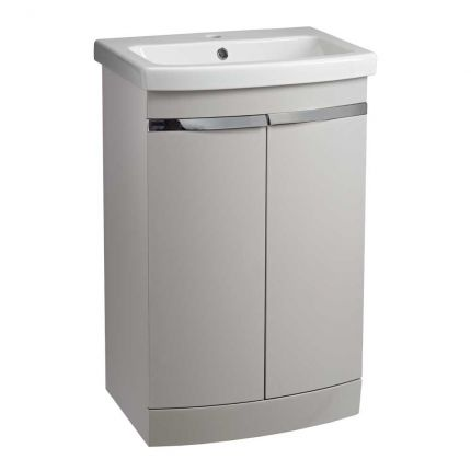 Plan 500mm Freestanding Wash Unit & Basin - Light Grey