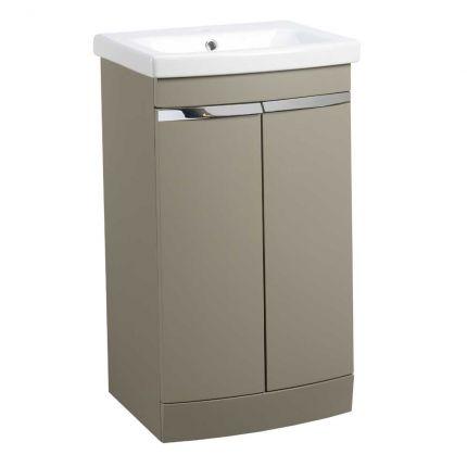 Plan 500mm Freestanding Wash Unit & Basin - Stone Grey