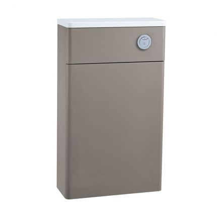 560mm Slimline Back to Wall WC Unit - Stone Grey