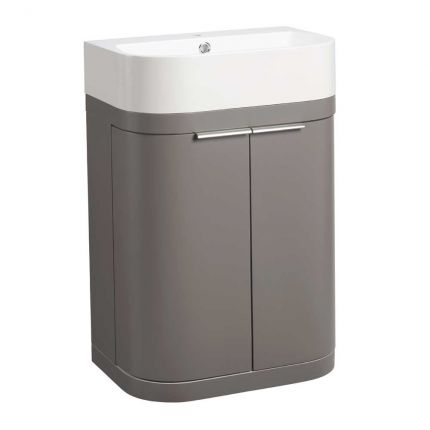 Soul 600mm Freestanding Wash Unit - Stone Grey