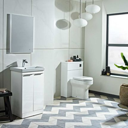 Type 500mm Freestanding Wash Unit & Basin - Gloss White