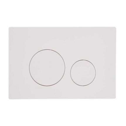 Rondo dual flush push plate - white