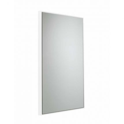 500mm Framed mirror - white