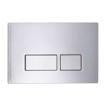 Plaza Dual flush push plate - chrome