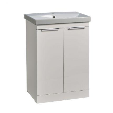 Type 600mm Freestanding Wash Unit & Basin - Gloss White