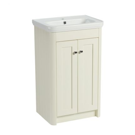 Halcyon 500mm Freestanding Wash Unit - Natural White
