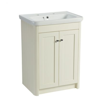 Halcyon 600mm Freestanding Wash Unit - Natural White