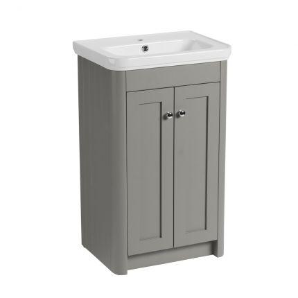 Halcyon 500mm Freestanding Wash Unit - Stone Grey