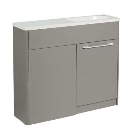 Contour 1000mm Freestanding Furniture Run- Stone Grey- Right