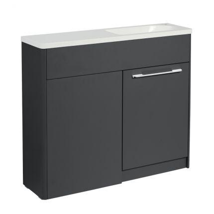 Contour 1000mm Freestanding Furniture Run- Anthracite - Right