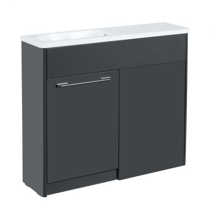 Contour 1000mm Freestanding Furniture Run- Anthracite - Left