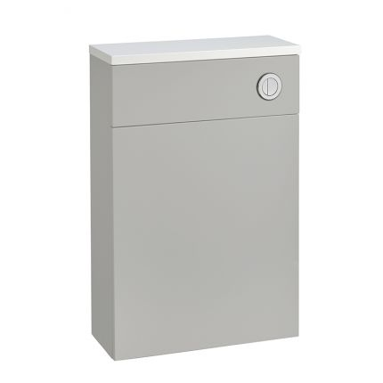 560mm Slimline Back to Wall WC Unit - Light Grey