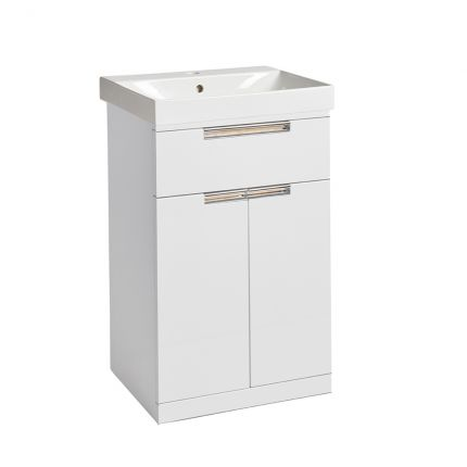 Platform 500mm Freestanding Wash Unit- Gloss White