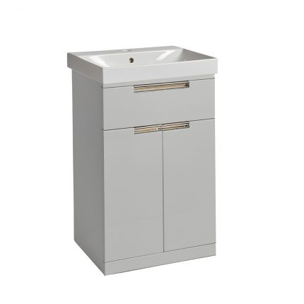 Platform 500mm Freestanding Wash Unit- Light Grey