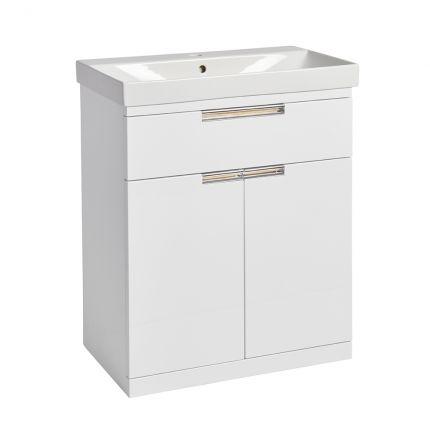 Platform 700mm Freestanding Wash Unit- Gloss White