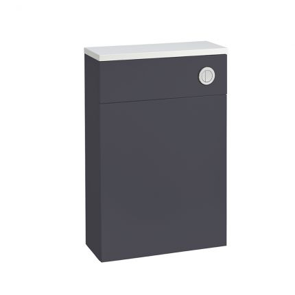 560mm Slimline Back to Wall WC Unit - Midnight Grey