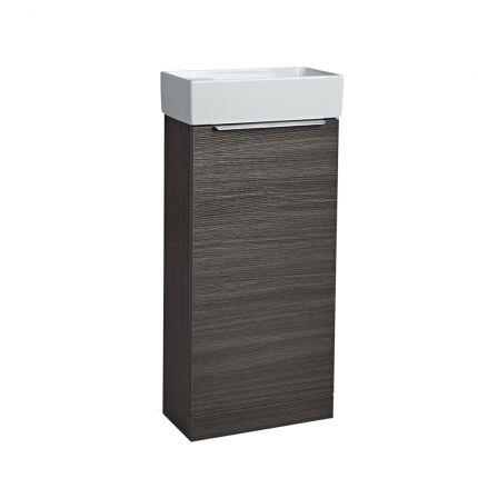 Alto Cloakroom Bathroom Unit - Basalt Wood