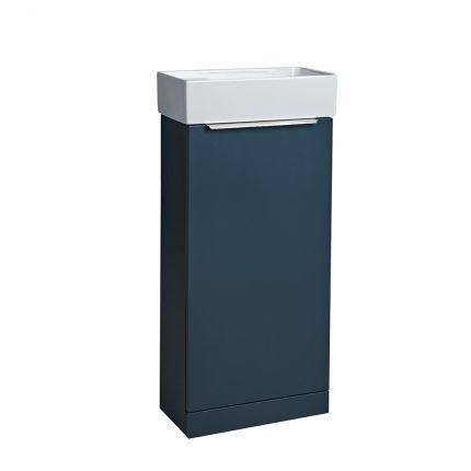 Alto Cloakroom Bathroom Unit - Dark Blue
