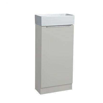 Alto Cloakroom Bathroom Unit - Light Grey