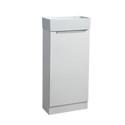 Alto Cloakroom Bathroom Unit - Gloss White