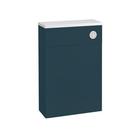 560mm Slimline Back to Wall WC Unit - Dark Blue