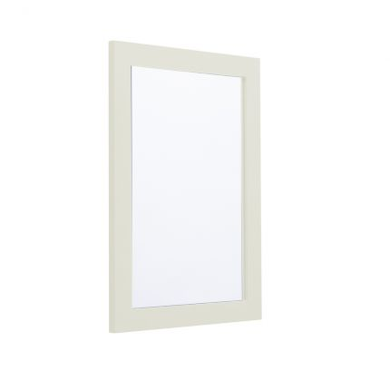 Halcyon 460mm Framed Mirror - Natural White