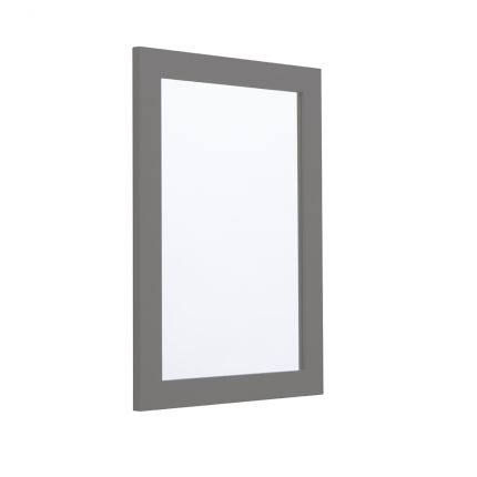 Halcyon 460mm Framed Mirror - Stone Grey