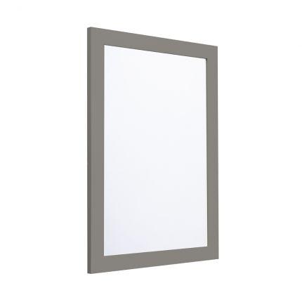 Halcyon 585mm Framed Mirror - Stone Grey
