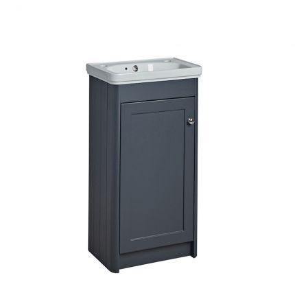 Halcyon 400mm Cloakroom Wash Unit- Midnight Grey